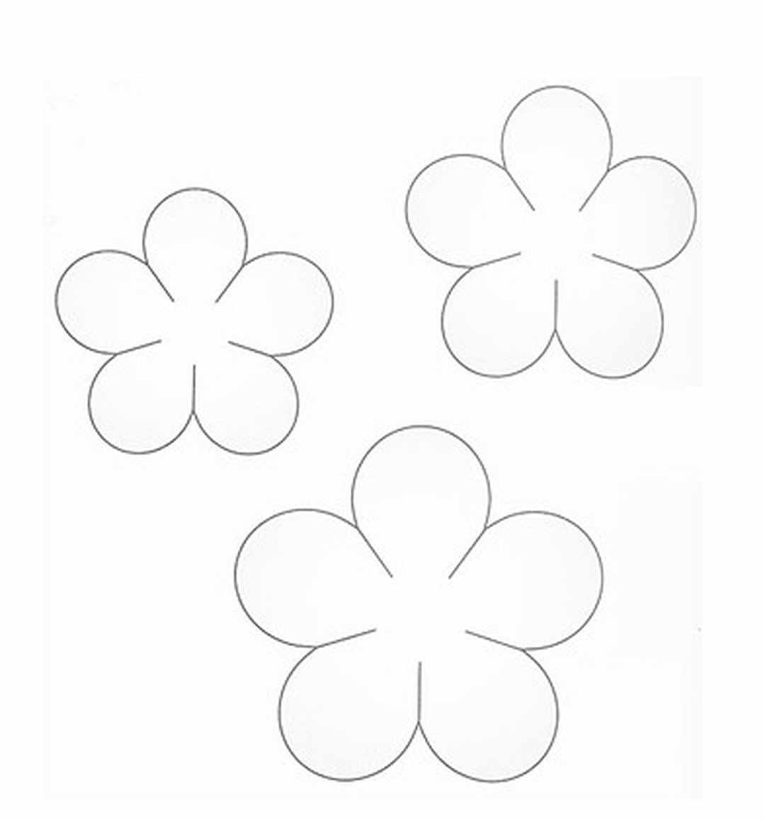 цветок из бумаги на открытку шаблон того чтобы оригинально