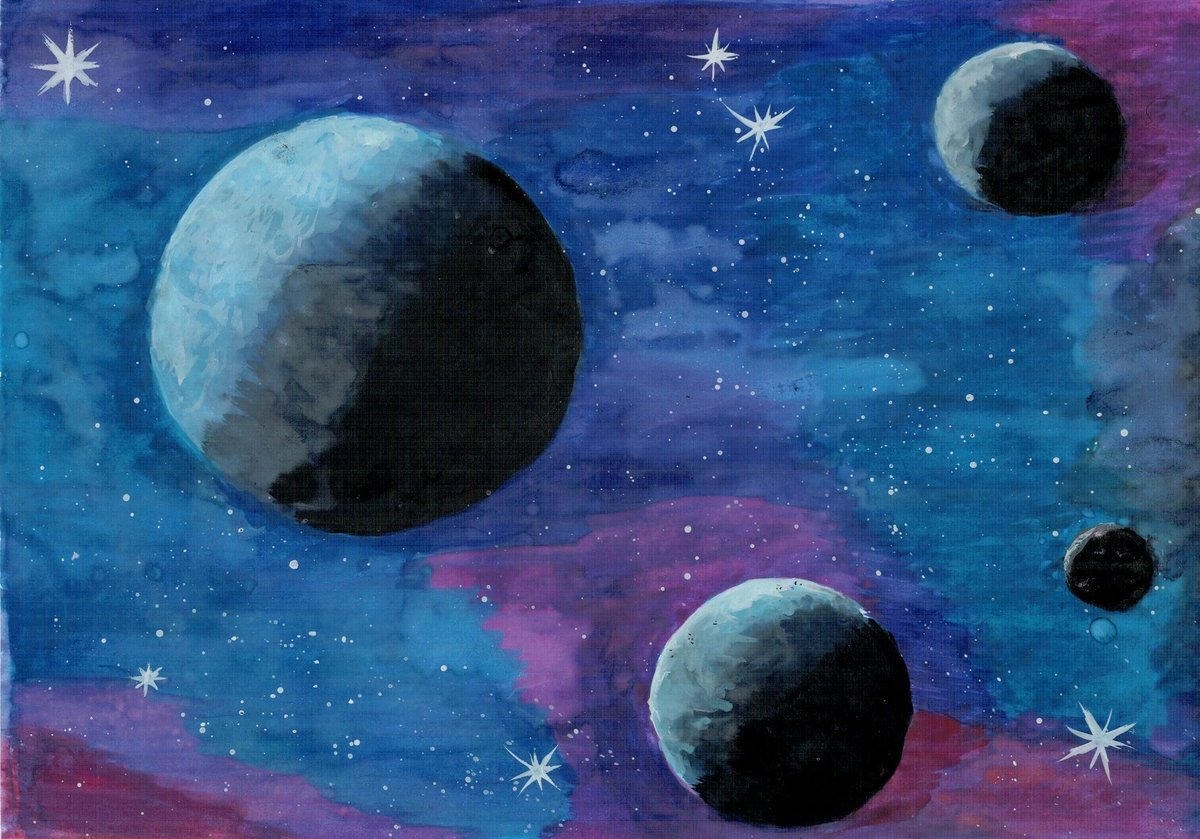 нашей рисование космос картинки подсохнет