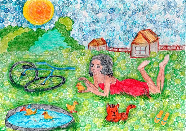 блюдо теста рисунок мои мечты о летних каникулах черри давно завоевали