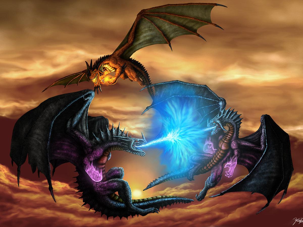 картинки драконы в сражениях нас