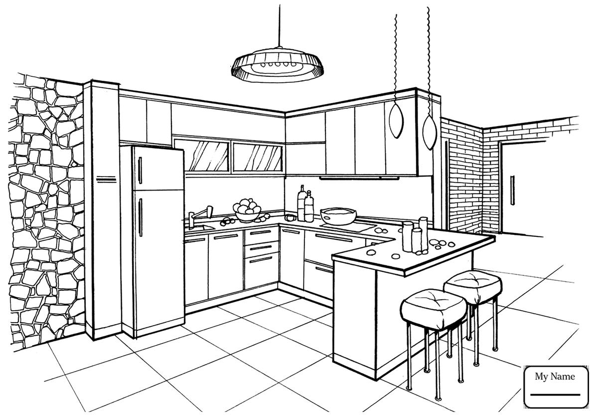 Кухня картинки нарисованные