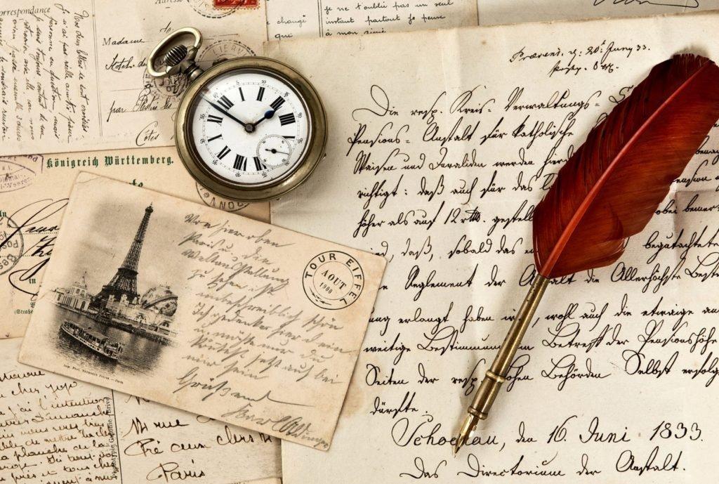 По английски получать письма и открытки, листопад