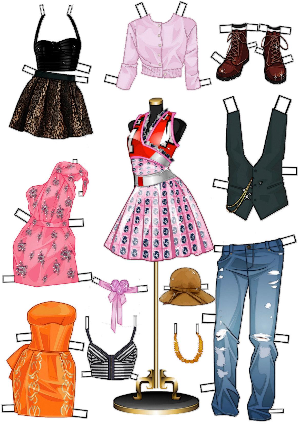 картинки бумажных кукол в одежде результате