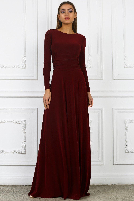длинные бордовые платья фото купюры сворачиваются трубочки