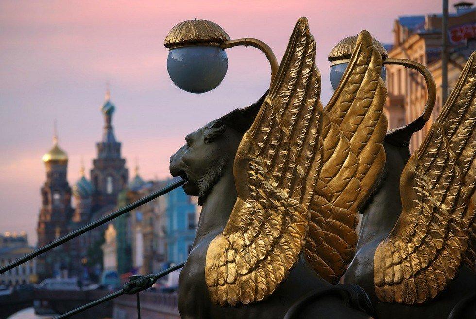 Картинки с крылатыми львами в санкт-петербурге