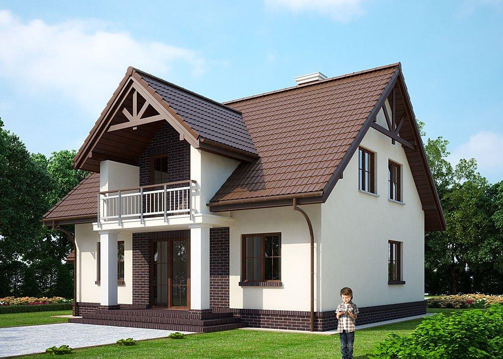 проекты дома из пеноблока