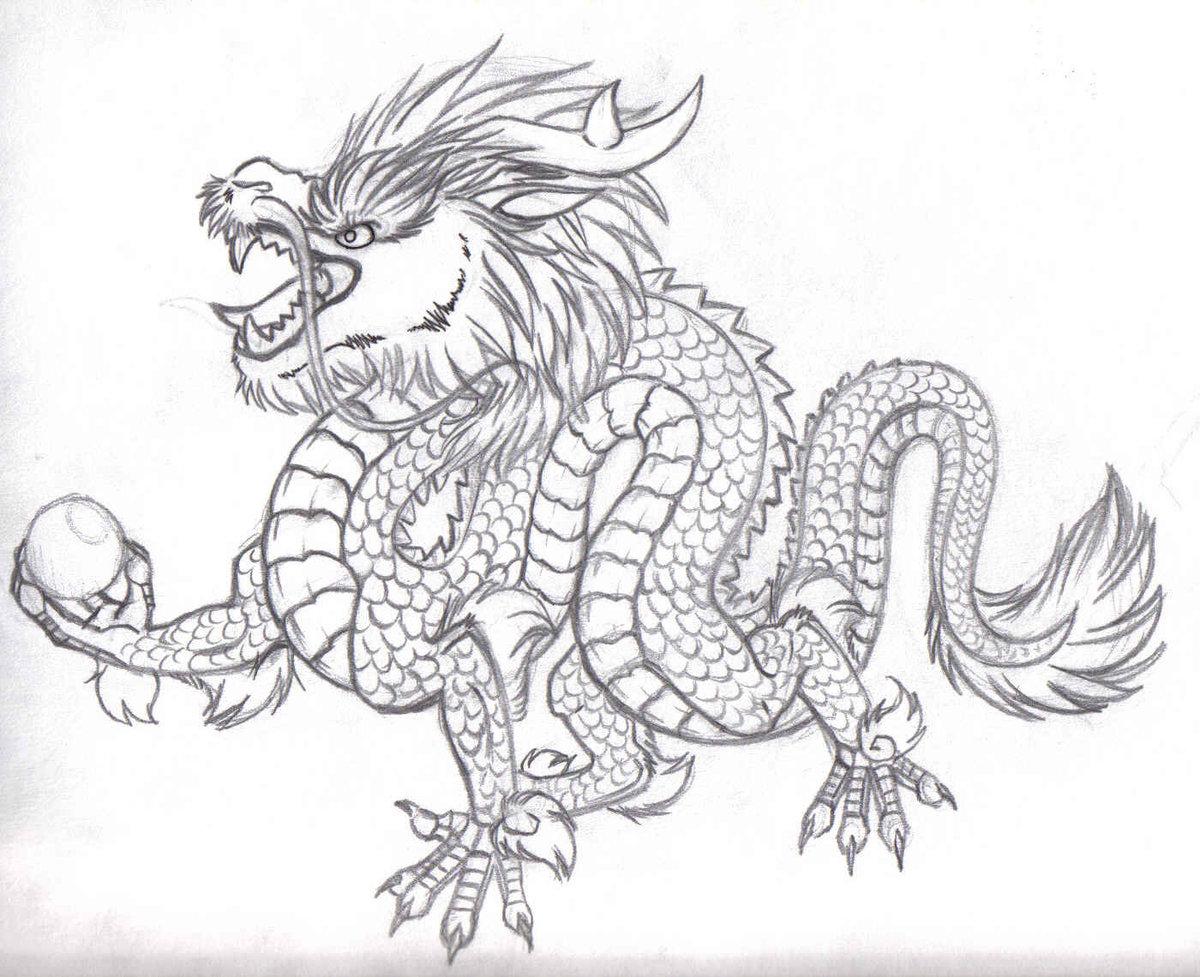 Китайский дракон картинки как нарисовать