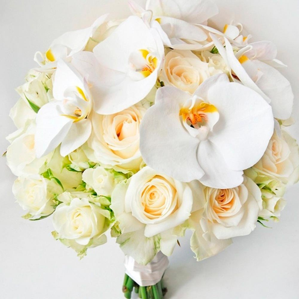 Цветов звенигород, свадебный букет из роз и орхидей купить спб