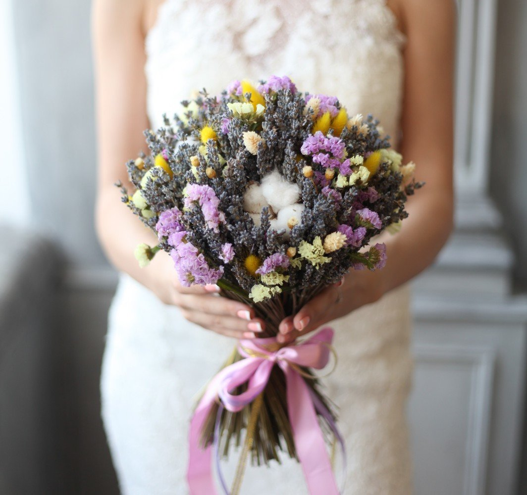 Цветов твери, букет лаванды свадебный