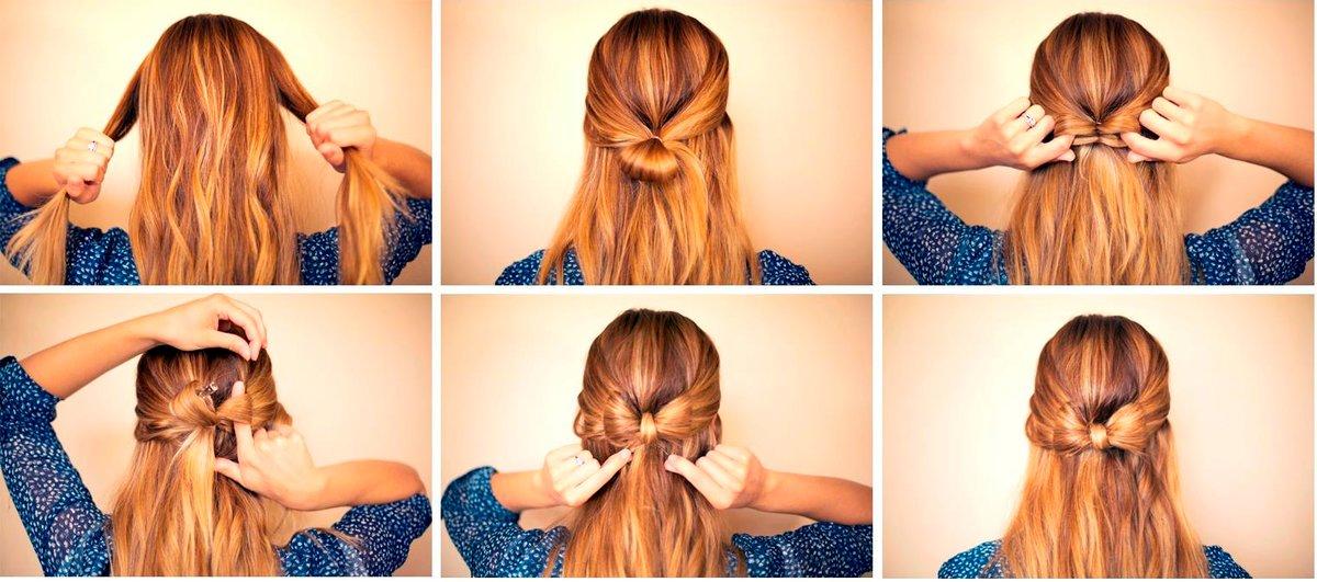 Фото с легкими прическами на каждый день своими руками, которые можно сделать за 5 минут на средние и длинные волосы.