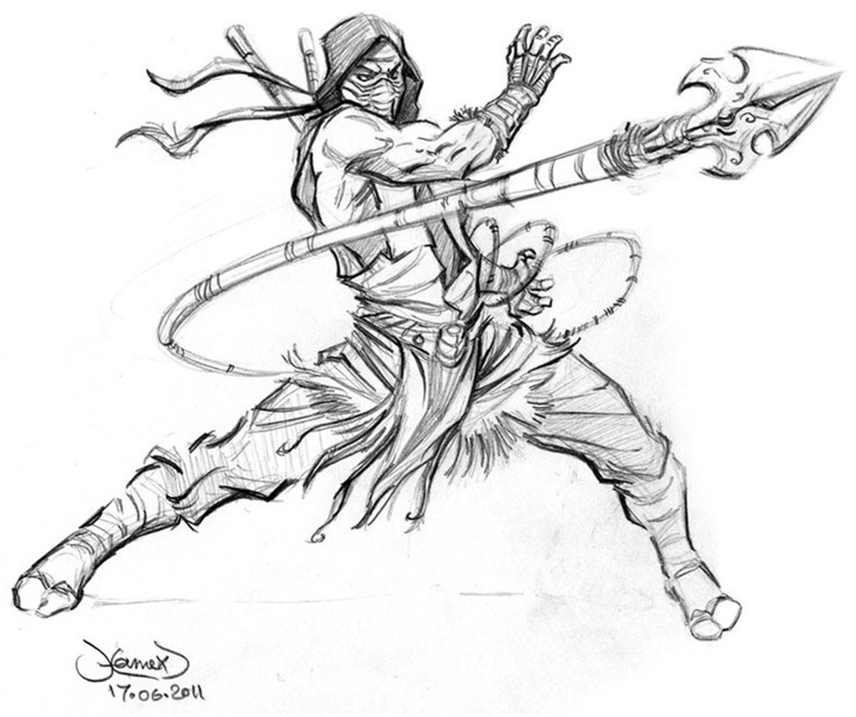 Mortal Kombat Scorpion Coloring Pages Coloring Pages 2019