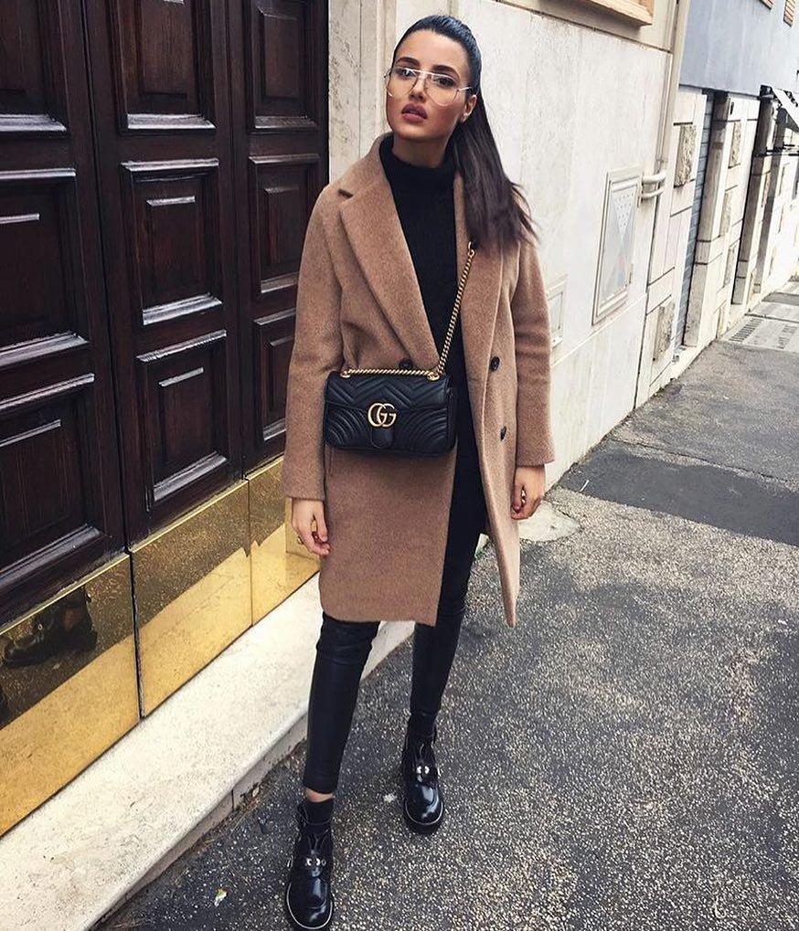 С чем носить женское пальто-пиджак  23 стильных образа Истин ... 28c42c7e3f60c