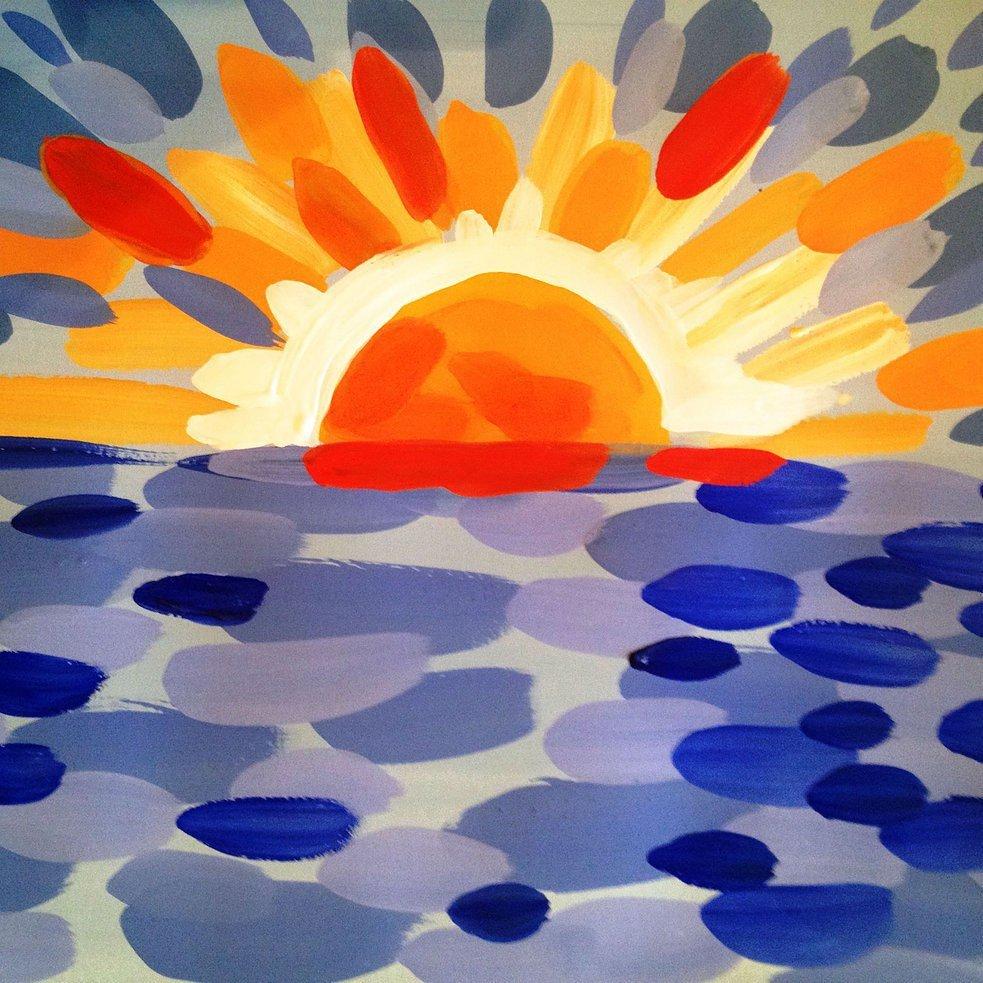 Картинки красками для детей 11 лет