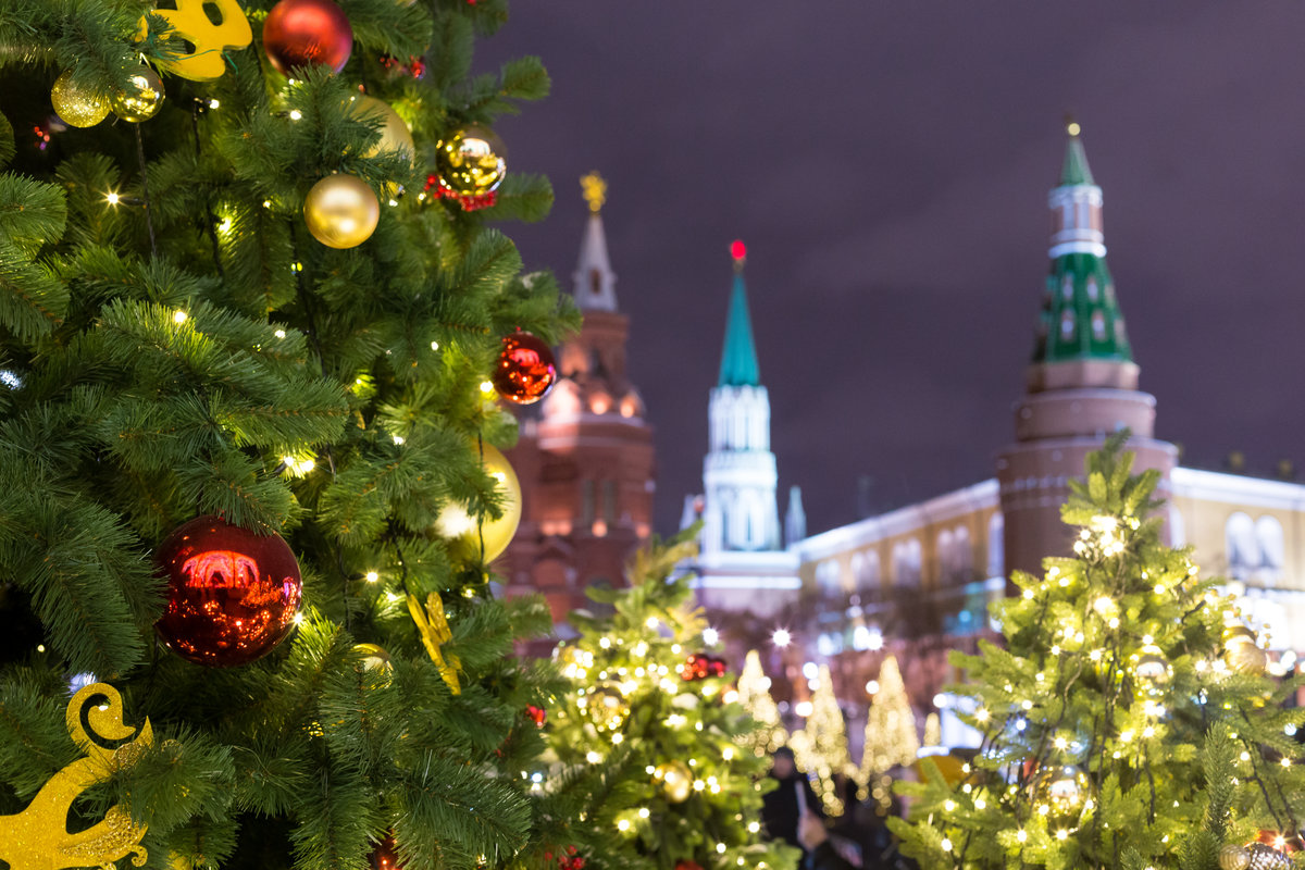 около лес фото кремль с новым годом планете