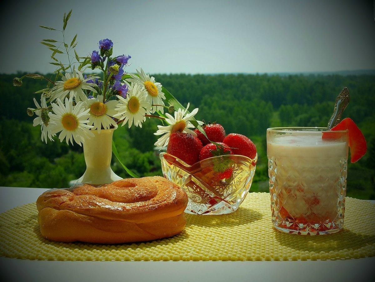 Доброе утро картинки красивые летние август