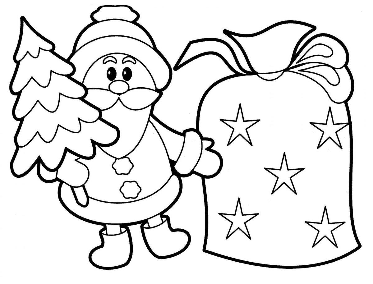 Февраля, новогодняя открытка шаблон для детей