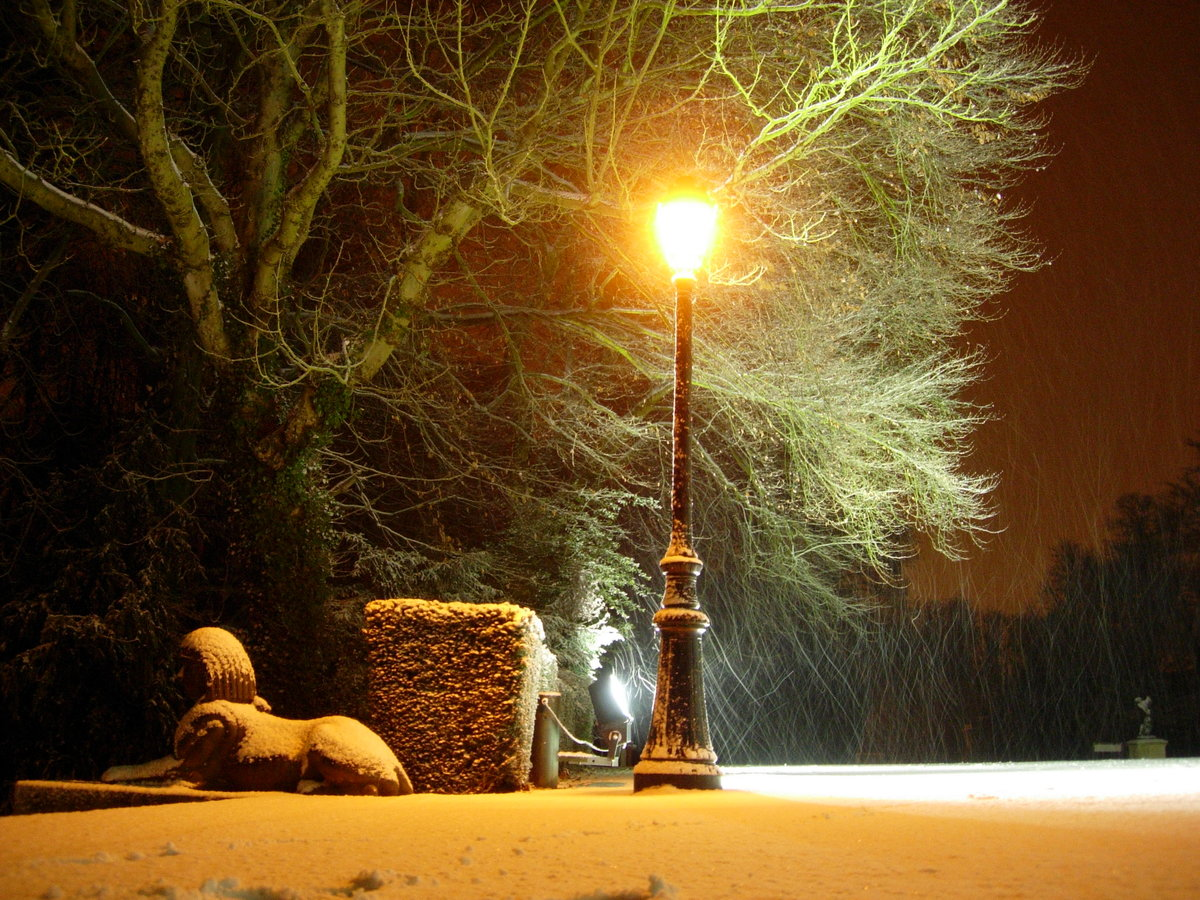 Снег на фонарях картинки подождать февраля-марта