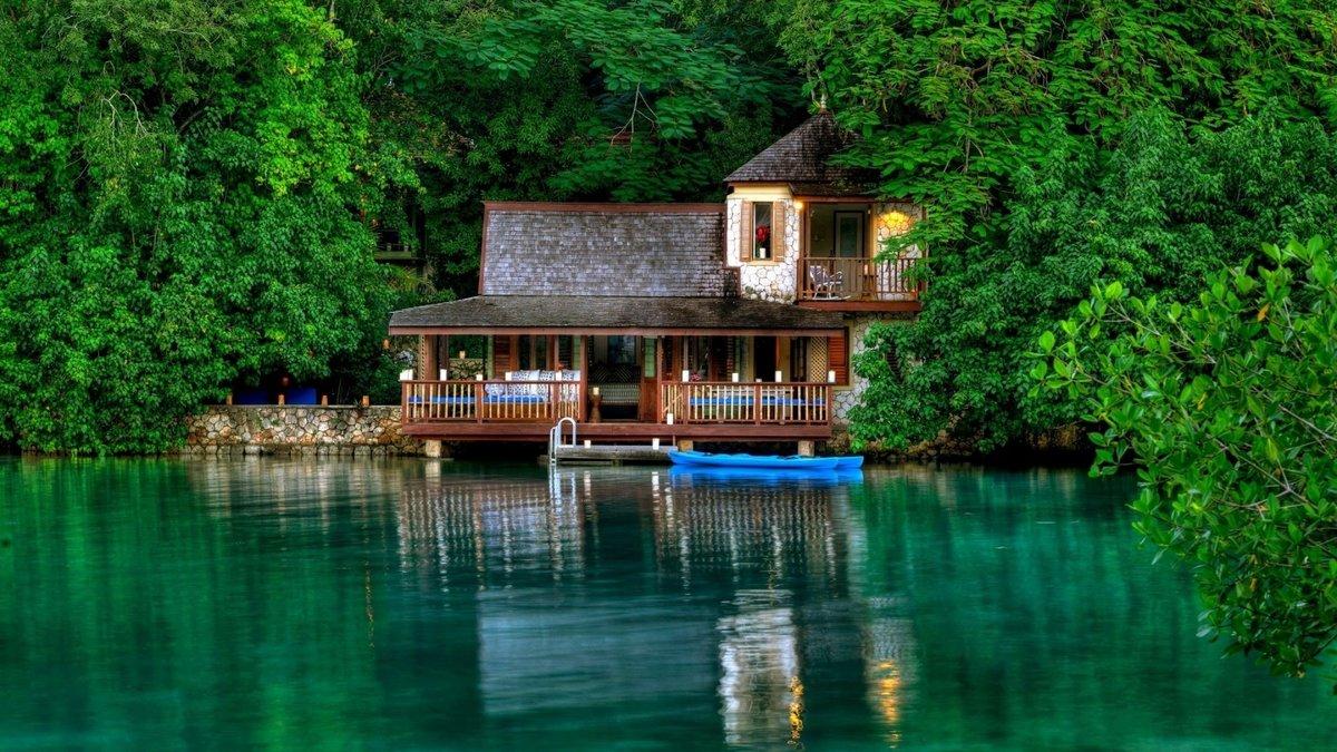 Дом у озера картинки красивые, для
