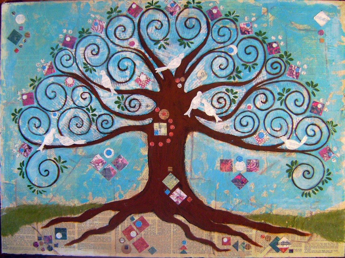 Рисунок сказочные деревья красные