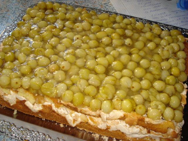 Л., орехи молотые – грамм, сахар – 75 грамм, белок – 2 шт., белок – 3 шт, сахар – грамм, крыжовник – грамм.