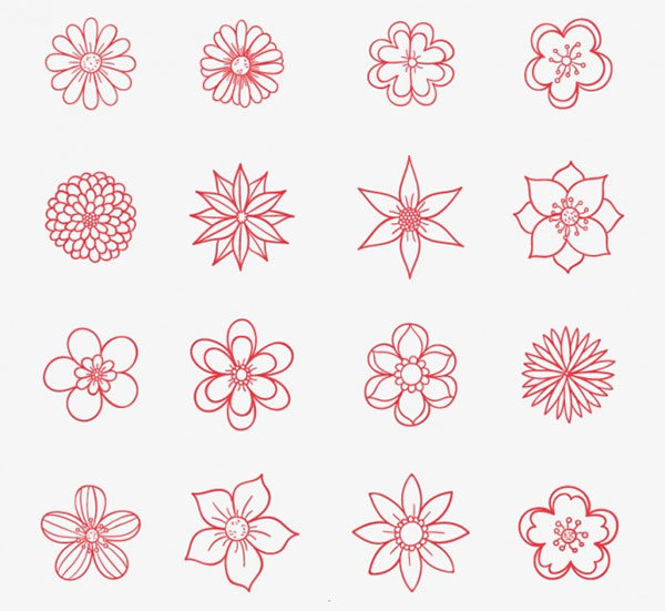 Маленькие цветы картинки нарисованные