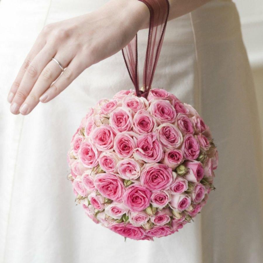 Свадебный букет для невесты шарики, школьнику