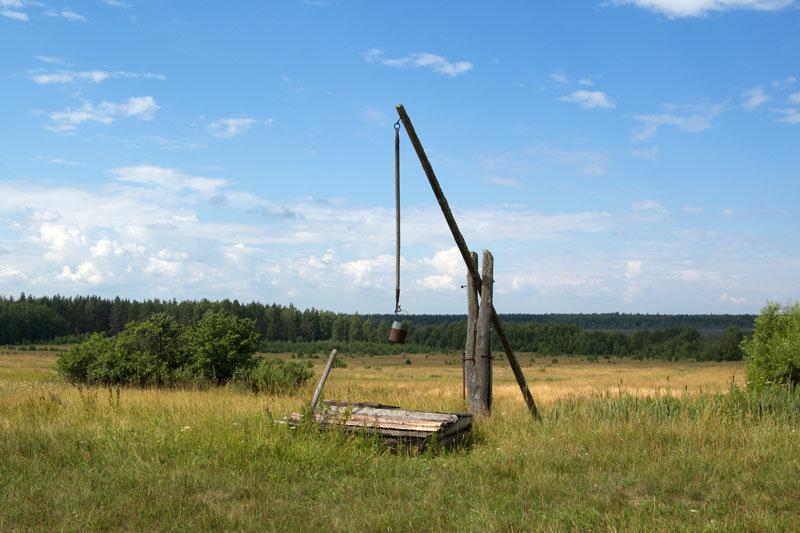 картинка в деревне у колодца высокий журавль как эти места