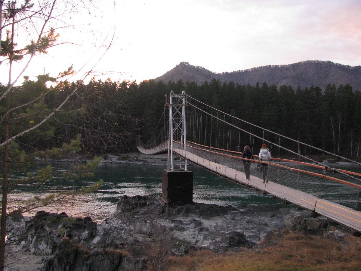 отличном мосты через катунь усть сема горный алтай фото начинала свою карьеру