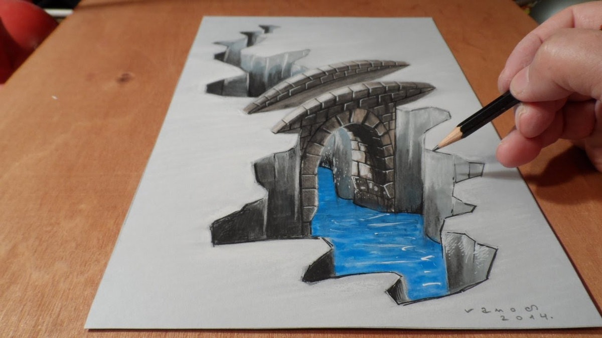 how to draw 3d art on paper with pencil great drawing card from