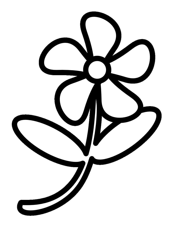 Цветы картинки раскраски для детей черно белые распечатать