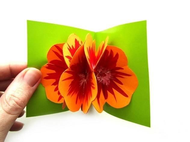 Изготовление открыток к 8 марта самые простые
