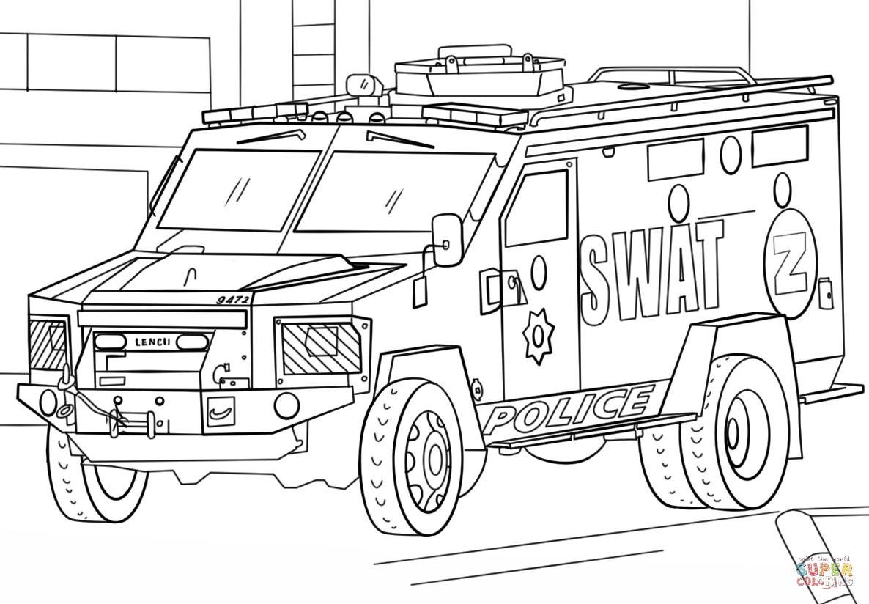 """""""Раскраска Грузовик SWAT Раскраски для детей печать онлайн ..."""