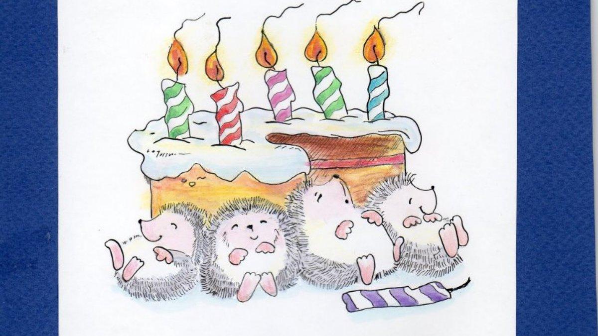 Нарисованные картинки поздравления, открытки