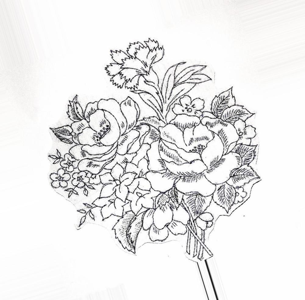 Букеты рисунок карандашом