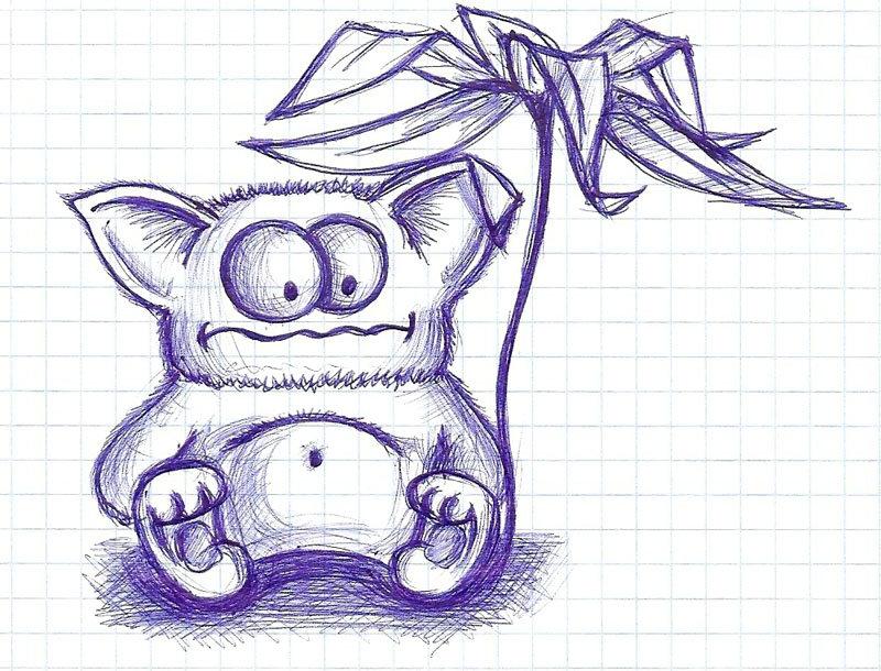 Рисовать прикольные рисунки ручкой, поздравления новым годом