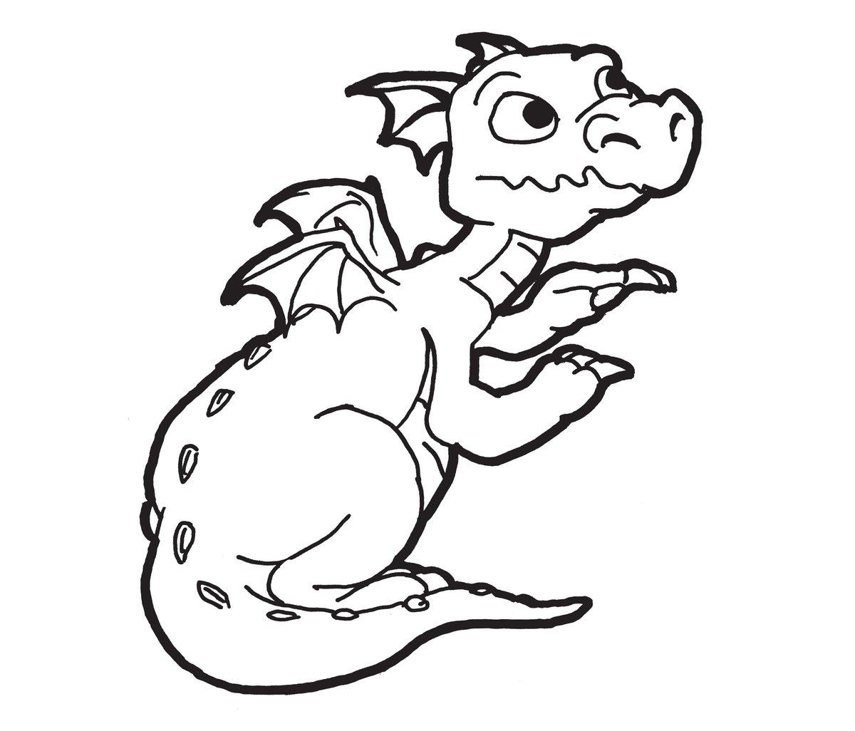 Днем рождения, дракончик картинки раскраски