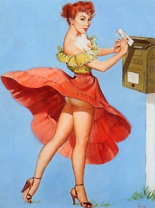 Пин-ап картинки для открыток