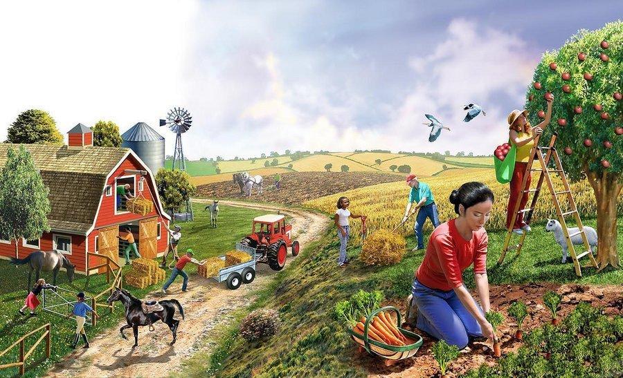 Картинки жизнь людей в деревне ферма