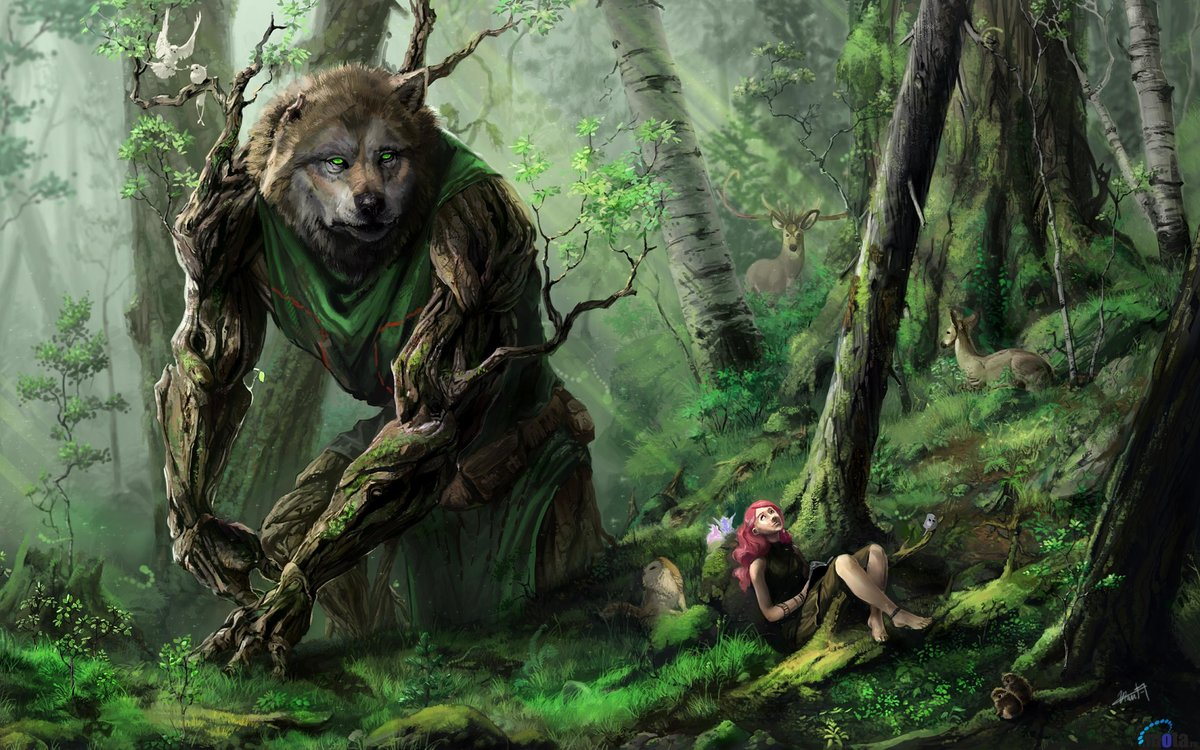 artwork creatures fantasy forests walldevil card from user
