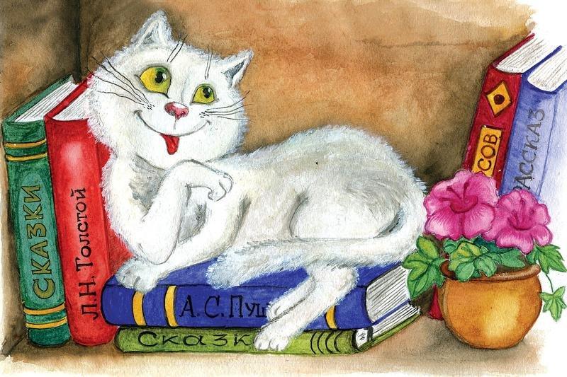 Нарисованные открытки с кошками, вербное поздравление