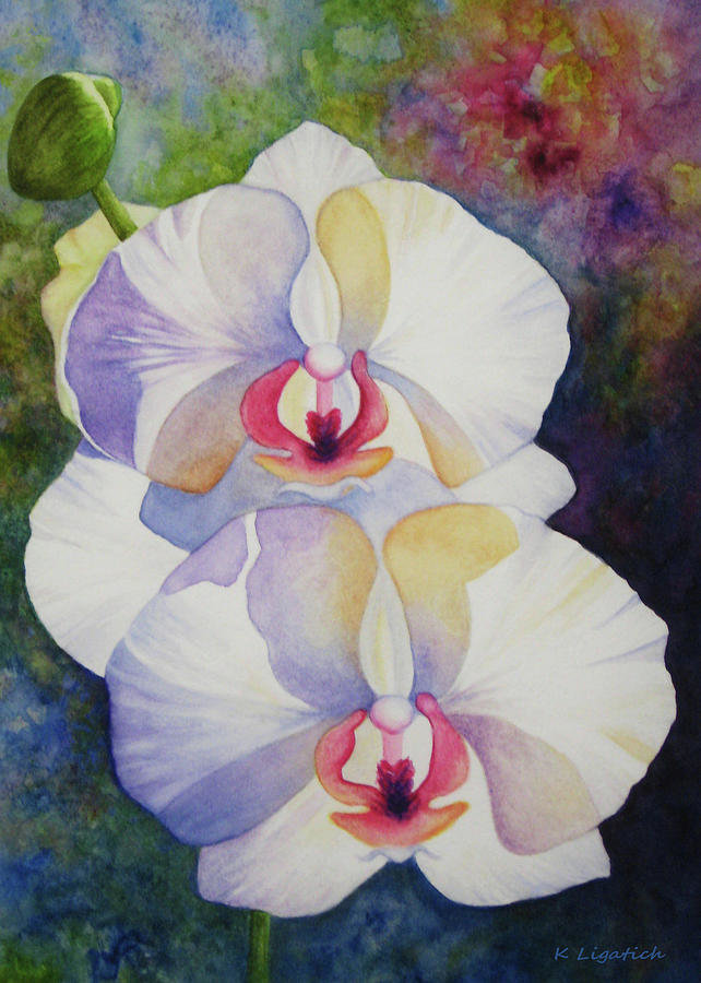 simple orchids paintings - 642×900