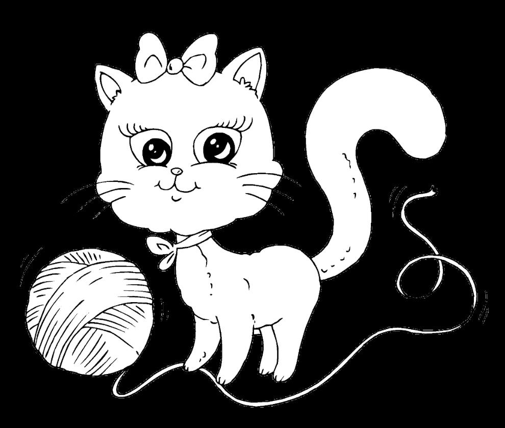 Картинки котиков для раскраски
