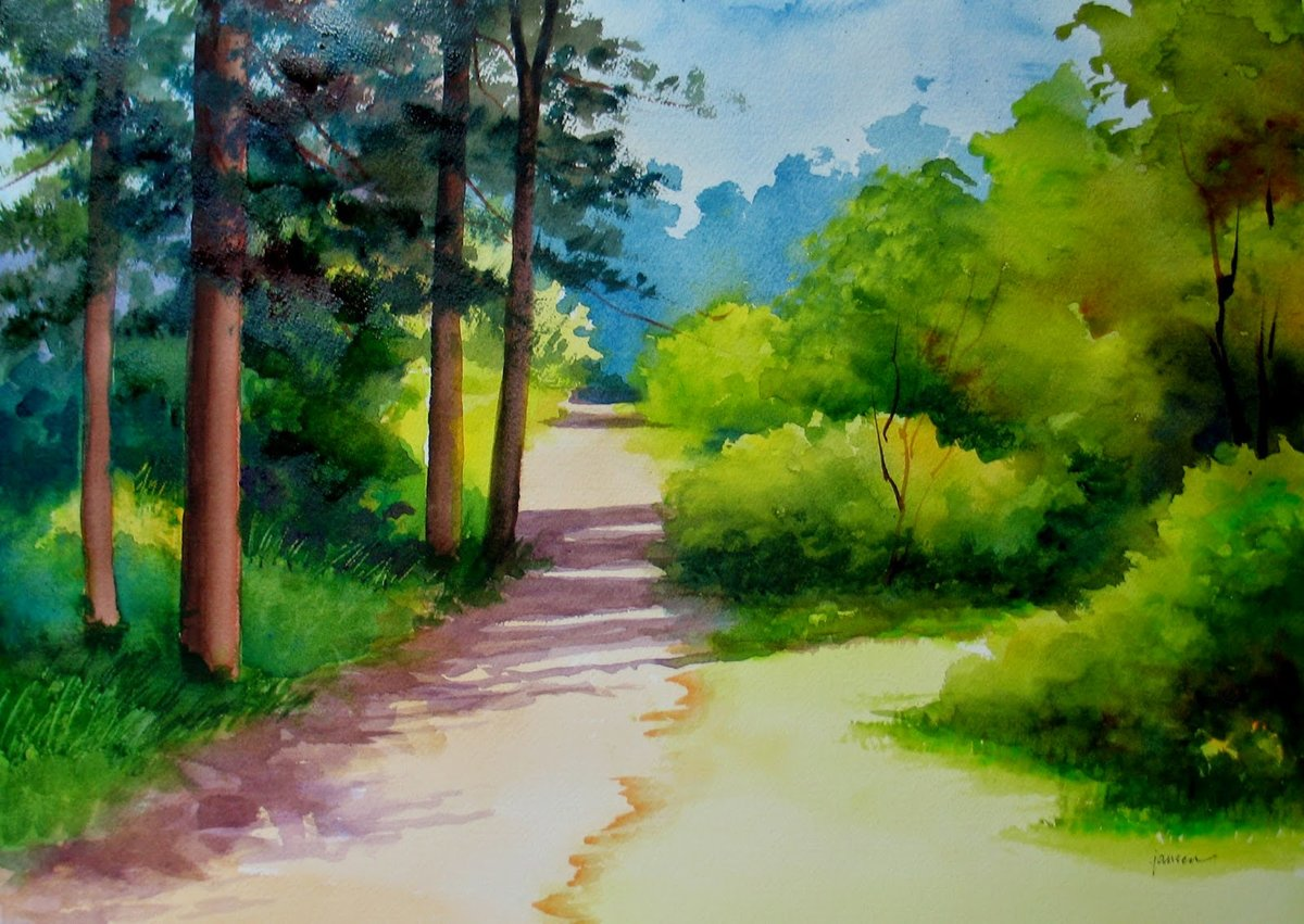 Лето природа рисунок
