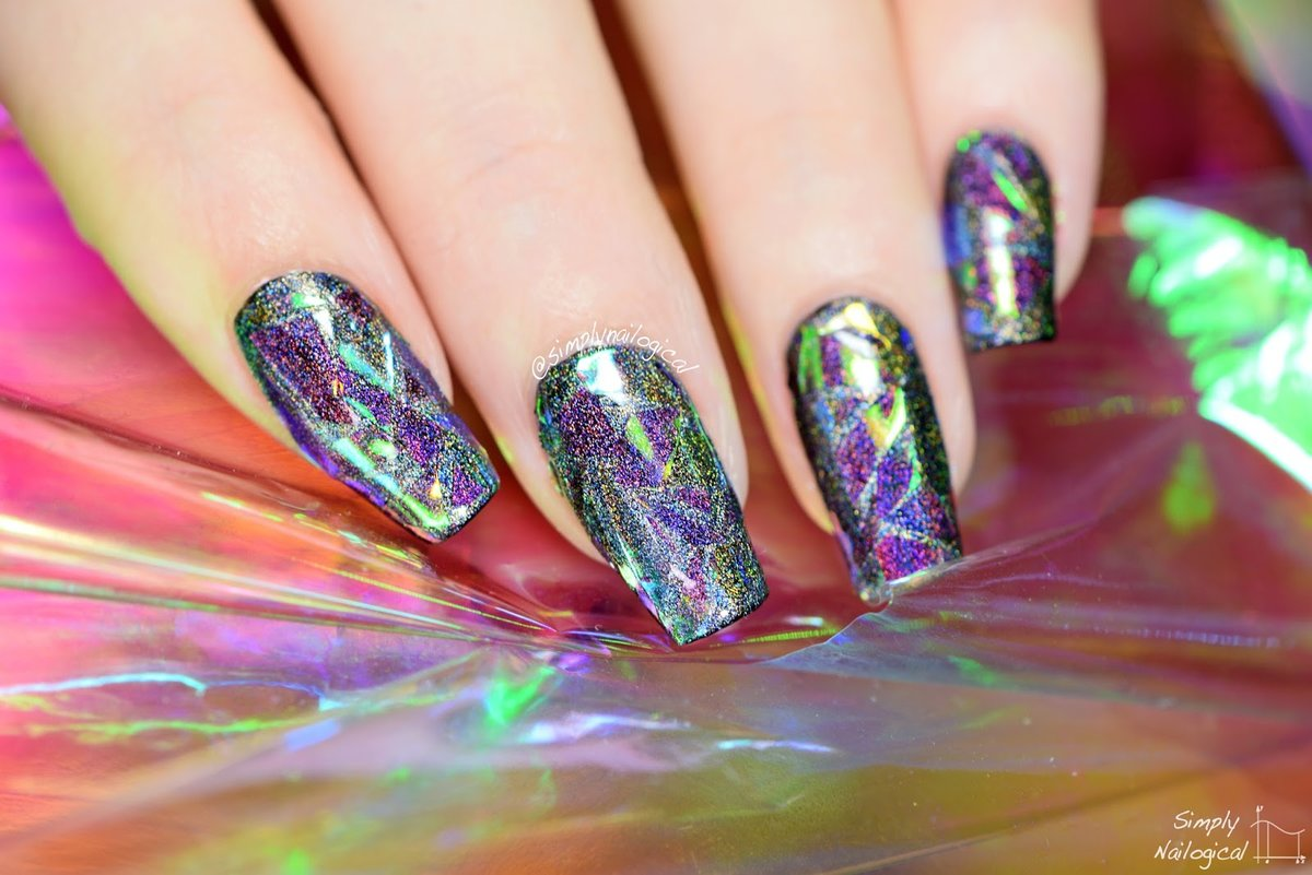 Simply Nailogical: Holographic shattered glass nails so badass rn ...