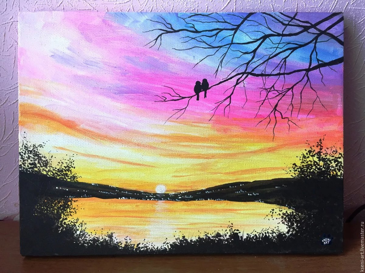 Нарисованные картинки красками легкие и красивые, сделать открытку лет