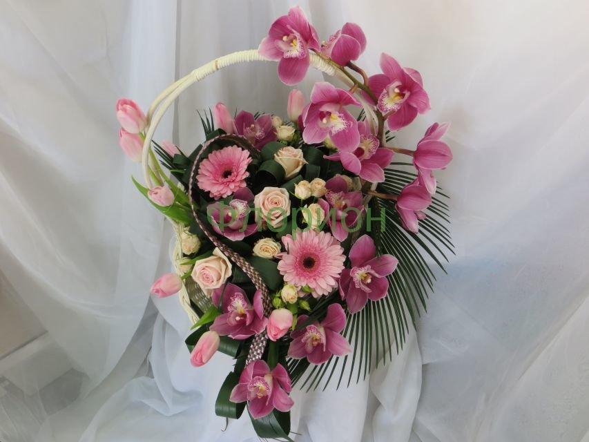 Купить корзину цветов к новому году, цветы оптом и в розницу в екатеринбурге самые низкие цены