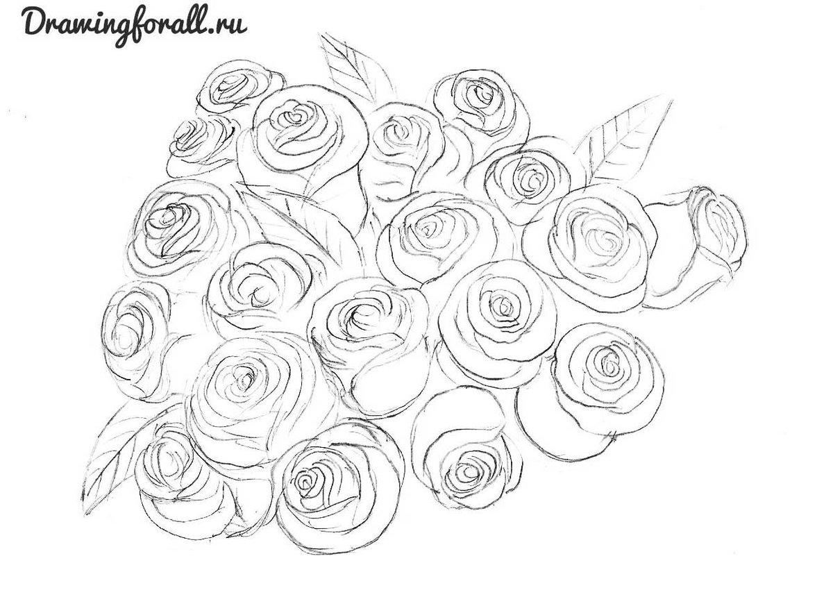 Как нарисовать маленькую розу для открытки, открытка крещение
