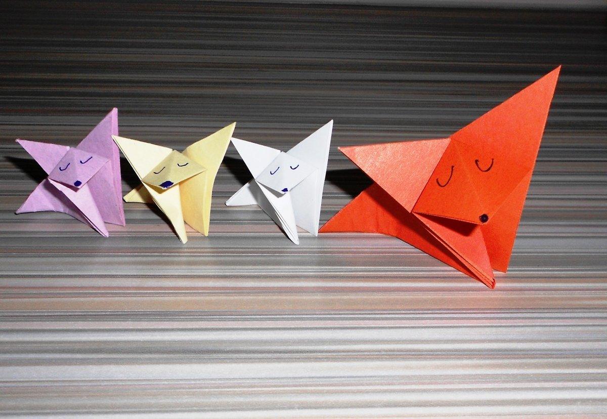 оригами из бумаги для начинающих видео