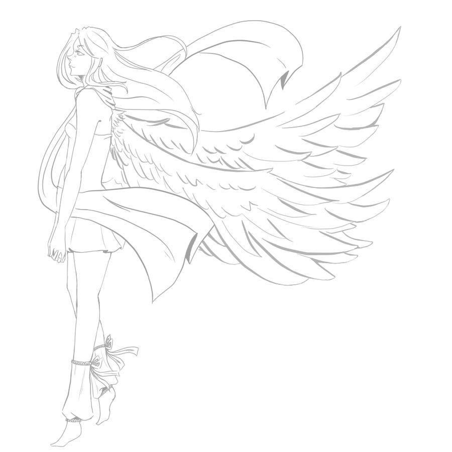 картинки карандашом нарисовать ангелов можно рискнуть долететь