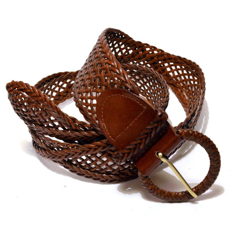 Ремень коричневый женский плетеный кожаные ремни к лазам
